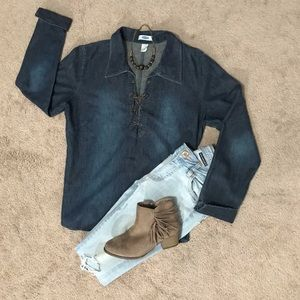 Old Navy, denim top